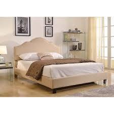 Beige Upholstered Bed Audrina Queen Upholstered Bed Beige