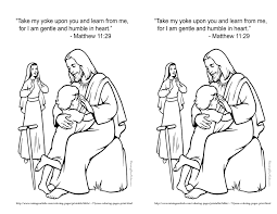 feb 17 2014 matthew 11 29 coloring page kids bible study