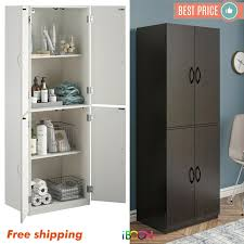 kitchen storage cabinets with doors wood storage cabinets with 4 doors pantry cupboard kitchen organizer