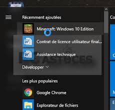 mettre icone sur le bureau créer un raccourci pour une application sur le bureau windows 10