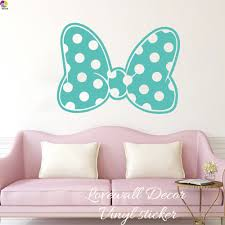 cartoon minnie mouse polka dot bow wall sticker baby nursery girls cartoon minnie mouse polka dot bow wall sticker baby nursery girls room cute bow dot wall decal sofa bedroom vinyl home decor in wall stickers from home