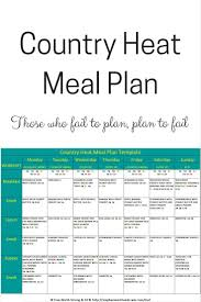 country heat meal plan based off the 1 200 1 499 calorie bracket