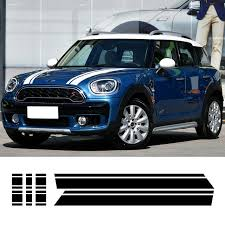 mini cooper engine hood trunk bonnet engine rear body stripe cover decor vinyl decal