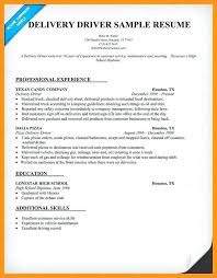 Pizza Delivery Driver Resume Delivery Driver Sample Resume U2013 Topshoppingnetwork Com