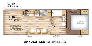 2017 coachmen adrenaline 25qb toy hauler trailer u2013 stock ad17008