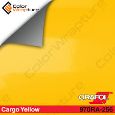 oracal 970ra 256 gloss cargo yellow vinyl wrap film w rapid air