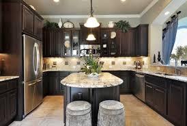 kitchen pictures with dark cabinets 15079355 modern kitchen with dark wood cabinets and hardwood