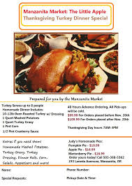 thanksgiving turkey orders our 2014 dinner flyer