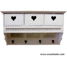Shabby Chic Coat Hangers by Shabby Chic Wooden Coat Rack With Cut Out Heart Design In Drawers