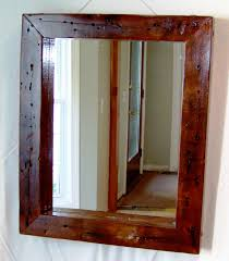 cherry wood bathroom mirror mirrors mercury glass wall mirror reclaimed wood mirror oak