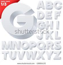 vector alphabet simple 3d letters sans stock vector 138064133