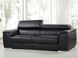 canapé en cuir 3 places canape cuir reconstitue pvc bari 3 places noir 86304 86306