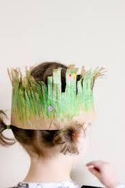 grass crown for earth day fun family crafts