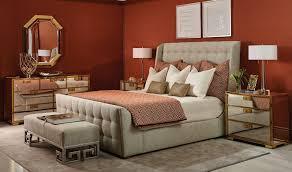 Luxe Home Interior Soho Luxe Upholstered Sleigh Bed Queen Bernhardt Luxe Home