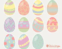 pastel easter eggs easter eggs clipart etsy