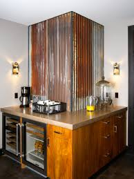 Metal Roofing Backsplash  With Metal Roofing Backsplash - Corrugated metal backsplash