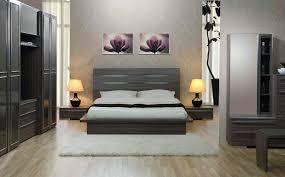 retro minimalist bedroom apartment with wooden classic mirror