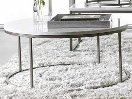 38 round coffee table casana alana white marble natural steel 38 round coffee table