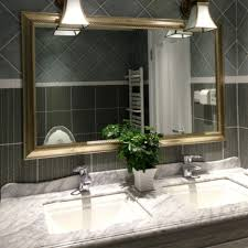 Large Bathroom Mirrors by Antique Large Bathroom Mirror With Frame And Ceramic Wall Design