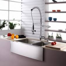 high end kitchen faucets sinks modern high end kitchen with stainless steel divided apron