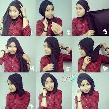 tutorial memakai jilbab paris yang simple 4 cara memakai hijab paris terbaru simpel modern elegan tutorial