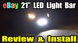 ebay led front off road light bar install u0026 review youtube