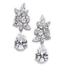 cubic zirconia earrings krista floral inspired cubic zirconia earrings bellagio
