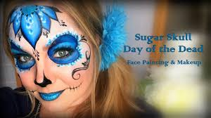pretty and easy sugar skull makeup and face painting youtube