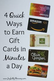 earn gift cards ways to earn gift cards in minutes a day