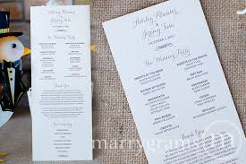 sided wedding programs script wedding program thin style