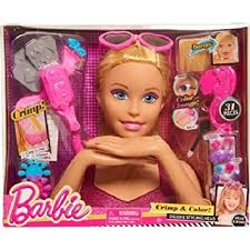 amazon play barbie color u0026 crimp blonde deluxe styling
