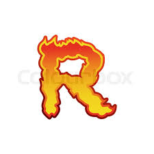 letter r fire flames font lettering tattoo alphabet character