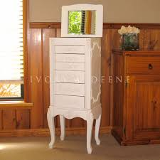 French Provincial Armoire Shabby French Provincial Jewelry Armoire Chest Box Cream Vintage