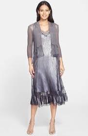 komarov lace trim charmeuse dress u0026 chiffon jacket available at