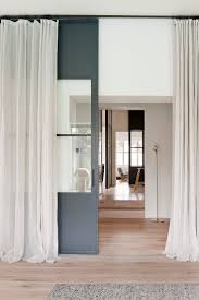 decor sliding glass doors room dividers with long curtain design