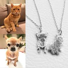 Custom Photo Necklace Custom 925 Sterling Silver Necklace For Pet Owners 50 Discount