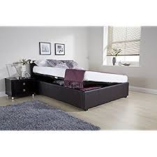 ottoman small double storage bed upholstered in faux leather 4ft