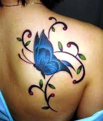 butterfly back tattoos butterfly tattoos on back of shoulder