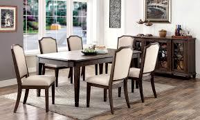 Transitional Dining Room Furniture Furniture Of America Cm3193t Cm3193sc Cm3193sv Haylee 8 Pieces