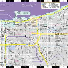 Chicago Metra Map Streetwise Chicago Map Laminated City Center Street Map Of