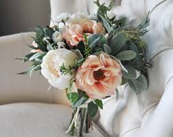 silk bridal bouquets silk bridal bouquet etsy
