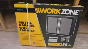 Metal Wall Cabinet Workzone Metal Garage Wall Cabinet Aldi Quick Review Youtube