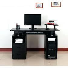 grand bureau noir ikea bureau informatique grand bureau noir meuble informatique pas