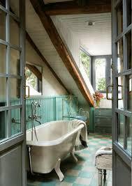 Bathroom Extraordinary Attic Bathroom Designs With Wooden Walls