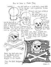 How To Draw A Flag How To Draw Worksheets For The Young Artist How To Draw A Pirate