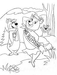 yogi bear coloring pages yogi bear not berra playing baseball page