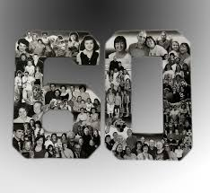 60th birthday decorations birthday photo collage custom milestone bithday collage numbers