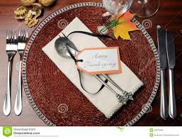 Table Place Settings by Thanksgiving Table Place Setting Stock Photo Image 43983603