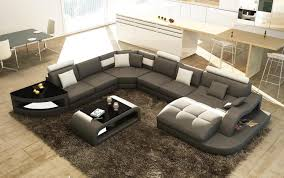 grand canapé d angle tissu canapes tissus canape d angle design panoramique gris et blanc