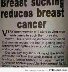 Men Suck Memes - 23 breast sucking reduces breast cancer pmslweb